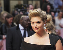 US actress Kate Upton arrives for the Premiere of her latest film, 'The Other Woman' in  London, United Kingdom. Wednesday, 2nd April 2014. Picture by Max Nash / i-Images