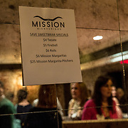 WASHINGTON,DC - MAR20: Sweet Briar College holds a a pop-up fundraiser at Mission in Dupont Circle, to save the womens' college in Virginia, which will close if it can't raise $250 million dollars, March 20, 2015. (Photo by Evelyn Hockstein/For The Washington Post)