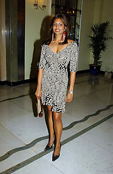 "DIVIA LALVANI at a party to celebrate the publication of Bruce Oldfield's autobiography ""Rootless"" held in aid of Crimestoppers at Claridge's, Brook Street, London W1 on 22nd September 2004.<br />