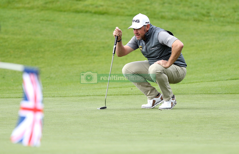 England's Lee Westwood on the 3rd during day three of the British Masters at Close House Golf Club, Newcastle.