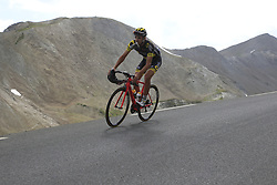Lilian Calmejane (FRA) Direct Energie descends the Col du Galibier during Stage 4 of the 104th edition of the Tour de France 2017, running 183km from La Mure to Serre Chevalier, France. 19th July 2017.<br /> Picture: Eoin Clarke | Cyclefile<br /> <br /> All photos usage must carry mandatory copyright credit (&copy; Cyclefile | Eoin Clarke)