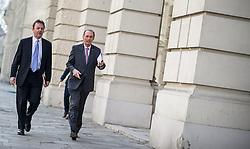 14.03.2014, OeVP Bundespartei, Wien, AUT, OeVP, Vorstandssitzung der OeVP Bundespartei. im Bild v.l.n.r. Nationalratsabgeordneter OeVP Nikolaus Berlakovic und OeVP Spitzenkandidat zur EU-Wahl Othmar Karas // f.l.t.r. Member of Parliament OeVP Niki Berlakovic and OeVP Topcandidate for EU election Othmar Karas before board meeting of OeVP at federal party of OeVP in Vienna, Austria on 2014/03/14. EXPA Pictures © 2014, PhotoCredit: EXPA/ Michael Gruber