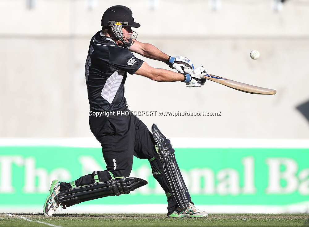 New Zealand opening Jamie How batting during the 3rd ODI, Black Caps v Pakistan, One Day International Cricket. AMI Stadium, Christchurch, New Zealand. Saturday 29  January 2011. Photo: Andrew Cornaga/photosport.co.nz