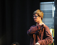 """Ole Miss students perform as Price Walden directs his """"Leaves of Green"""" opera at the Southern Foodways Alliance's 2011 """"Cultivated South"""" Symposium at the Lyric in Oxford, Miss. on Sunday, October 30, 2011."""