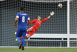June 14, 2017 - Cincinnati, OH, USA - Columbus Crew goalkeeper Brad Stuver (41) gives up the only goal of the game to FC Cincinnati Djiby Fall, not pictured, during the second half of the fourth-round U.S. Open Cup match at Nippert Stadium in Cincinnati on June 14, 2017. FC Cincinnati won, 1-0. (Credit Image: © Adam Cairns/TNS via ZUMA Wire)