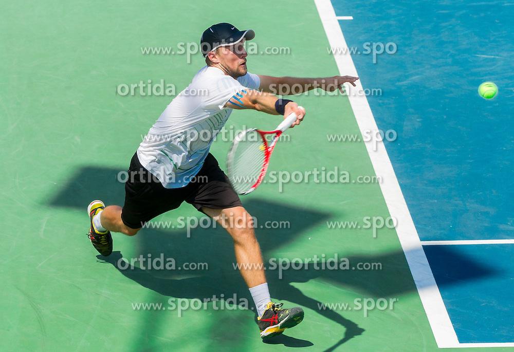 Tom Kocevar-Desman of Slovenia plays in Singles in Round 1 during Day 1 of ATP Challenger Tilia Slovenia Open 2014 on July 7, 2014 in  Tennis stadium SRC Marina, Portoroz / Portorose, Slovenia. Photo by Vid Ponikvar / Sportida