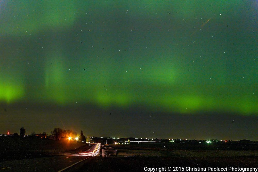 Northern Lights on Sunday November 11, 2004 near Plainview, Minnesota. (Christina Paolucci, photographer).