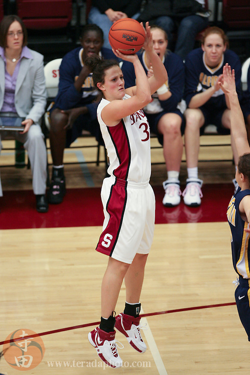 February 4, 2007; Stanford, CA, USA; Stanford Cardinal forward Jillian Harmon (33) shoots the basketball during the game against the California Golden Bears at Maples Pavilion. The Golden Bears defeated the Cardinal 72-57.