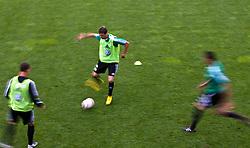 18.07.2010, Stadion Wilder Kaiser, Going, AUT, VFL Wolfsburg Training, im Bild Mario Mandzukic, VFL Wolfsburg (# 18), Wischer, EXPA Pictures © 2010, PhotoCredit: EXPA/ J. Feichter / SPORTIDA PHOTO AGENCY