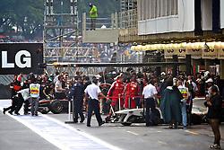 Movimento nos boxes durante o Grande Prémio do Brasil de Fórmula 1, em Interlagos, São Paulo. FOTO: Jefferson Bernardes/Preview.com