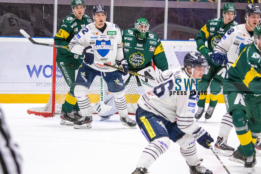 2019-10-09 | Umeå, Sweden: HockeyAllsvenskan during the game  between Björklöven and Karlskoga at A3 Arena ( Photo by: Michael Lundström | Swe Press Photo )<br /> <br /> Keywords: Umeå, Hockey, HockeyAllsvenskan, A3 Arena, Björklöven, Karlskoga, bk191009