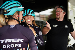 Eva Buurman (NED) laughs with her team at Lotto Thuringen Ladies Tour 2018 - Stage 7, an 18.7 km time trial starting and finishing in Schmölln, Germany on June 3, 2018. Photo by Sean Robinson/velofocus.com