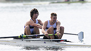 Eton, United Kingdom.  Men's Pair, Bow, Alex TORBICA and Alex DAVIDSON.  Sat. time trial.  2011 GBRowing Trials, Dorney Lake. Saturday  16/04/2011  [Mandatory Credit; Peter Spurrier/Intersport-images] Venue For 2012 Olympic Regatta and Flat Water Canoe events.