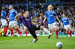 Mark McChrystal (NIR) of Bristol Rovers can't quite reach a cross in front of goal - Photo mandatory by-line: Rogan Thomson/JMP - 07966 386802 - 19/04/2014 - SPORT - FOOTBALL - Fratton Park, Portsmouth - Portsmouth FC v Bristol Rovers - Sky Bet Football League 2.