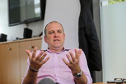 16.07.2015, Geißbockheim, Koeln, GER, Joerg Schmadtke im Portrait, im Bild Joerg Schmadtke (Geschaeftsfuehrer, 1. FC Koeln) bei einem Interview und Fototermin // Joerg Schmadtke CEO of 1. FC Cologne during a Interview and Photoshooting at Geißbockheim in Koeln, Germany on 2015/07/16. EXPA Pictures © 2016, PhotoCredit: EXPA/ Eibner-Pressefoto/ Horn<br /> <br /> *****ATTENTION - OUT of GER*****