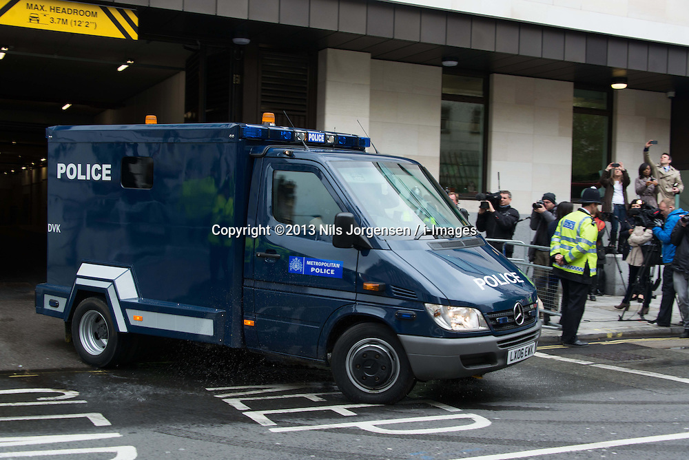 Michael Adebowale attends Westminster Magistrates' Court. Adebowale has been charged with the murder of soldier Lee Rigby, London<br /> Thursday, 30th May 2013<br /> Picture by Nils Jorgensen / i-Images