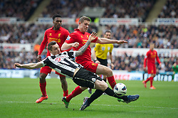 27.04.2013, St. James Park, Newcastle, ENG, Premier League, Newcastle United vs FC Liverpool, 35. Runde, im Bild Liverpool's Jordan Henderson in action against Newcastle United during the English Premier League 35th round match between Newcastle United and Liverpool FC at the St. James Park, Newcastle, Great Britain on 2013/04/27. EXPA Pictures © 2013, PhotoCredit: EXPA/ Propagandaphoto/ David Rawcliffe..***** ATTENTION - OUT OF ENG, GBR, UK *****