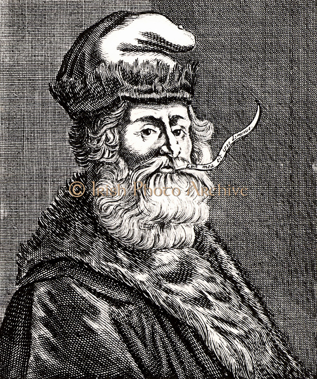 Raymond Lull (c1235-1315) Spanish theologian and mystic.  Lull's followers combined religious mysticism and alchemy.  From 'Icones Virorum' by Friedrich Roth-Scholtz (Nuremberg, 1725).