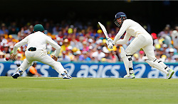 England's James Vinceplays a shot during day one of the Ashes Test match at The Gabba, Brisbane.