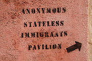 56th Art Biennale in Venice - All The World's Futures.<br /> Anonymous Stateless Immigrants Pavilion (grafiti).