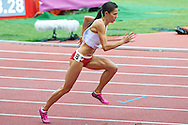 Joanna Jozwik from Poland competes in women's 800 meters final during the Fifth Day of the European Athletics Championships Zurich 2014 at Letzigrund Stadium in Zurich, Switzerland.<br /> <br /> Switzerland, Zurich, August 16, 2014<br /> <br /> Picture also available in RAW (NEF) or TIFF format on special request.<br /> <br /> For editorial use only. Any commercial or promotional use requires permission.<br /> <br /> Photo by © Adam Nurkiewicz / Mediasport