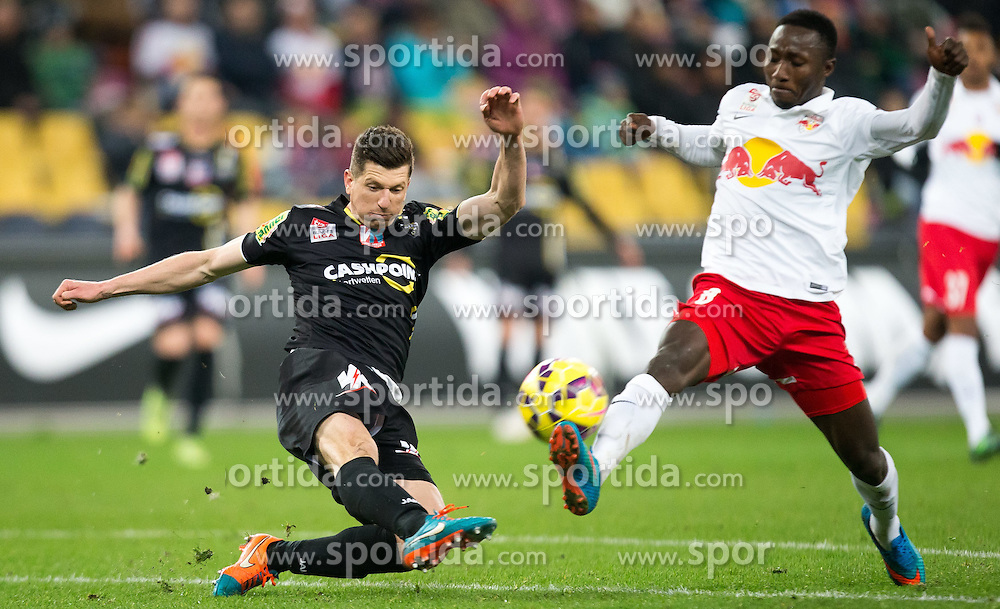 07.03.2015, Red Bull Arena, Salzburg, AUT, 1. FBL, FC Red Bull Salzburg vs SCR Cashpoint Altach, 24. Runde, im Bild v.l.: Andreas Lienhard, (SCR Altach, #07), Naby Keita (FC Red Bull Salzburg, #08) // during Austrian Football Bundesliga 24th round Match between FC Red Bull Salzburg and SCR Cashpoint Altach at the Red Bull Arena, Salzburg, Austria on 2015/03/07. EXPA Pictures © 2015, PhotoCredit: EXPA/ JFK