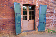 Iron doors on the back of the Wells Fargo Express Office, Columbia State Historic Park, California
