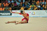 Francesca Targetti atleta della società Arcobaleno Prato durante l'esercizio al corpo libero alla seconda prova del Campionato Italiano di Ginnastica Ritmica.<br /> La gara si è svolta a Desio il 31 ottobre 2015.