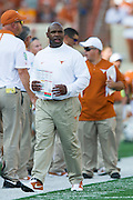 AUSTIN, TX - SEPTEMBER 26:  Texas Longhorns head coach Charlie Strong looks on against the Oklahoma State Cowboys on September 26, 2015 at Darrell K Royal-Texas Memorial Stadium in Austin, Texas.  (Photo by Cooper Neill/Getty Images) *** Local Caption *** Charlie Strong