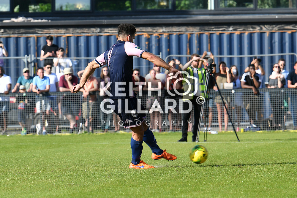 Dulwich Hamlet v Hendon, Bostik League Premier Division Play-Off Final, Imperial Fields, 7 May  2018. <br /> <br /> <br /> Image by Keith Gillard