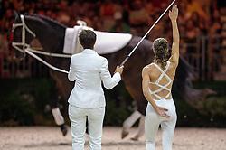 Carola Sneekes, (NED), Nolan, Marjo Sneekes - Individuals Women Final Vaulting - Alltech FEI World Equestrian Games™ 2014 - Normandy, France.<br /> © Hippo Foto Team - Jon Stroud<br /> 05/09/2014