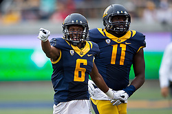 BERKELEY, CA - SEPTEMBER 12:  Cornerback Darius White #6 of the California Golden Bears celebrates after a play against the San Diego State Aztecs during the third quarter at California Memorial Stadium on September 12, 2015 in Berkeley, California. The California Golden Bears defeated the San Diego State Aztecs 35-7. (Photo by Jason O. Watson/Getty Images) *** Local Caption *** Darius White