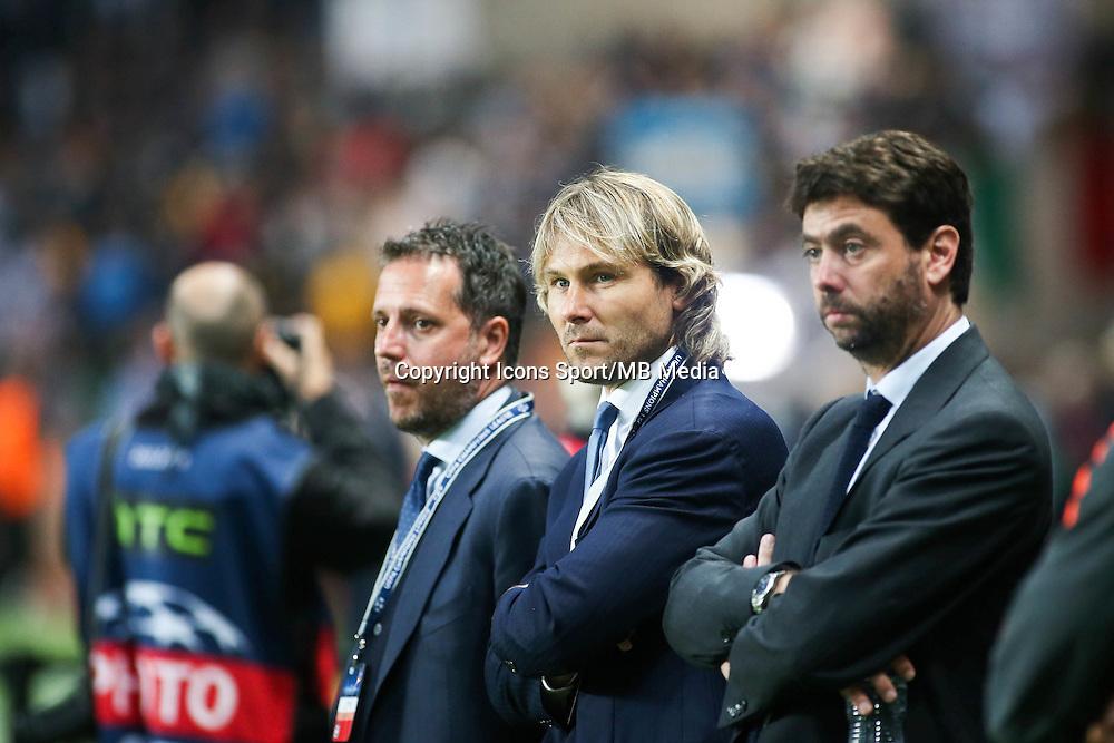Pavel NEDVED  / Andrea Agnelli - 22.04.2015 - Monaco / Juventus Turin - 1/4Finale retour Champions League<br />Photo : Serge Haouzi / Icon Sport