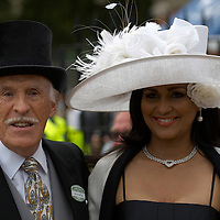 Ascot 20th June 2007 Second day at Royal Ascot with celebrities and members of the Royal Family.TV Presenter Bruce Forsyth