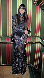 Zara Martin attends the Chopard Christmas Party at Annabel's in Mayfair, London, UK. 02/12/2014<br />BYLINE MUST READ : GOTCHAIMAGES.COM<br /><br />Copyright by &copy; Gotcha Images Ltd. All rights reserved.<br />Usage of this image is conditional upon the acceptance <br />of Gotcha Images Ltd, terms and conditions available at<br />www.gotchaimages.com