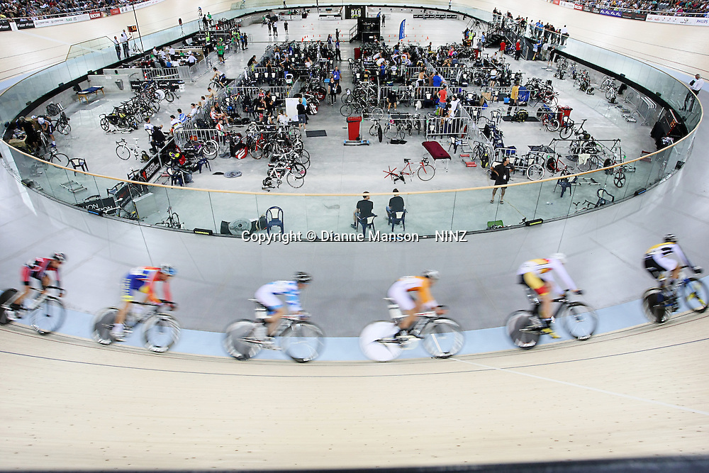 at the BikeNZ Elite & U19 Track National Championships, Avantidrome, Home of Cycling, Cambridge, New Zealand, Friday, March 14, 2014. Credit: Dianne Manson