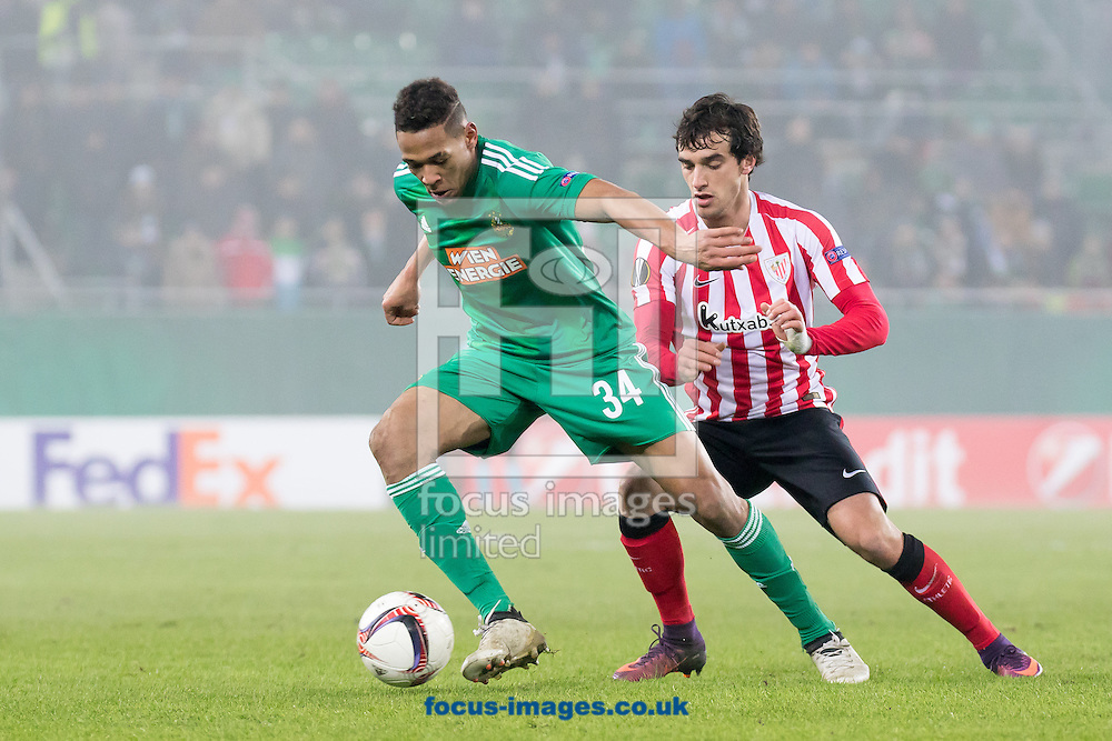 Joelinton of Rapid Vienna and Inigo Lekue of Athletic Bilbao during the UEFA Europa League match at Allianz Stadion, Vienna<br /> Picture by EXPA Pictures/Focus Images Ltd 07814482222<br /> 08/12/2016<br /> *** UK &amp; IRELAND ONLY ***<br /> <br /> EXPA-PUC-161208-0276.jpg