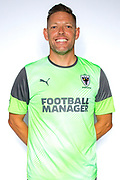 AFC Wimbledon goalkeeping coach Ashley Bayes* during the official team photocall for AFC Wimbledon at the Cherry Red Records Stadium, Kingston, England on 8 August 2019.