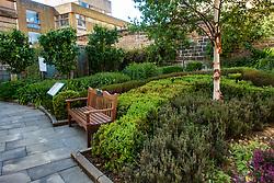 The Archivists's Garden beside Scottish National Archives office in Edinburgh, Scotland UK