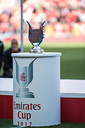 trophy at the Emirates Cup 2017 match between Arsenal and Sevilla at the Emirates Stadium, London, England on 30 July 2017. Photo by Sebastian Frej.
