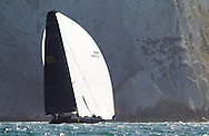 Invictus competes in the JPMorgan Asset Management Round the Island Race. Isle of Wight.<br /> Picture date: Saturday June 27, 2015.<br /> Photograph by Christopher Ison &copy;<br /> 07544044177<br /> chris@christopherison.com<br /> www.christopherison.com