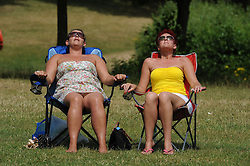 © Licensed to London News Pictures. 16/07/2013<br /> Adults and children enjoying the hot heatwave weather today (16.07.2013) at Swanley Park,Kent. The hot  weather looks set to continue.<br />  Photo credit :Grant Falvey/LNP