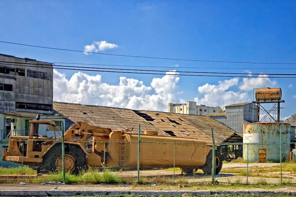 Industrial truck in Havana Regla, Cuba.