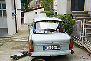 East German Trabant 601 car. Photographed in Belgrade, Serbia