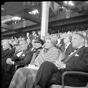 Royal Visit to Ireland by Princess Grace and Prince Rainier of Monaco. The couple attend Croke Park for the opening ceremony of the Dublin International Festival of Music and Arts.11.06.1961