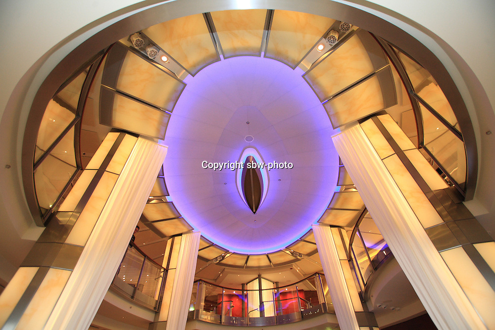 Celebrity Reflection departs on its preview sailing out of The Netherlands before beginning its European inaugural sailing on 12th October 2012 from Amsterdam..Theatre foyer.