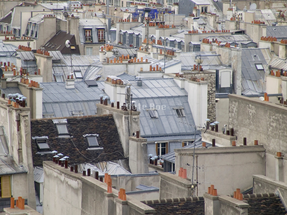 Paris rooftop of houses