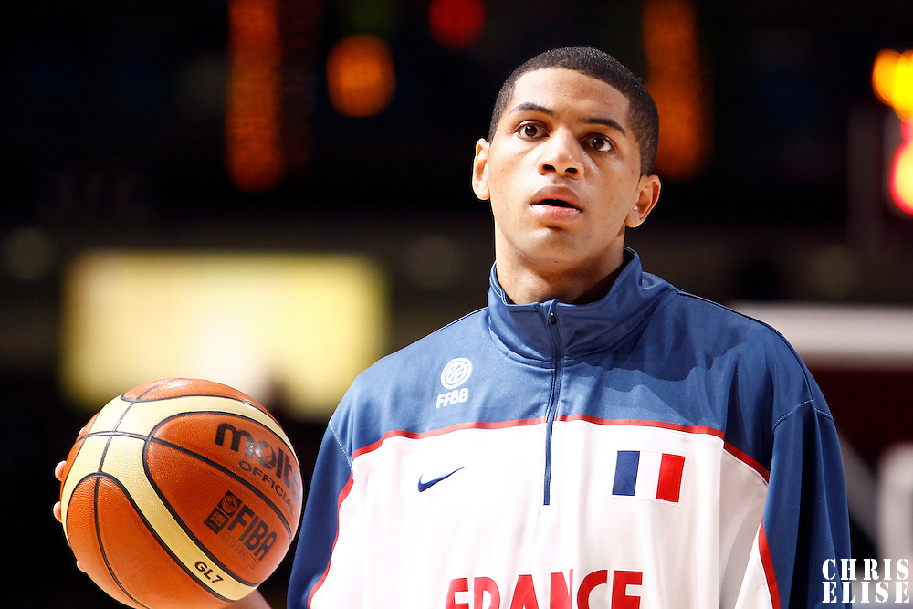 27 August 2011: Nicolas Batum is seen during the friendly game won 74-44 by France over Belgium, in Lievin, France.