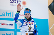 LAHTIS, FINLAND - 5 MARS: Matti Heikkinen under herrarnas 50 km mass start under FIS Nordic World Ski Championships den 5 mars , 2017 i Lahti, Finland. <br /> Foto: Nils Petter Nilsson/Ombrello<br /> ***BETALBILD***