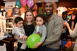 SOL CAMPBELL and his wife FIONA BARRETT with their children  at the 4th birthday party for Amadeus Becker, son of Boris & Lilly Becker held at Ralph Lauren, 143 New Bond Street, London on 9th February 2014.